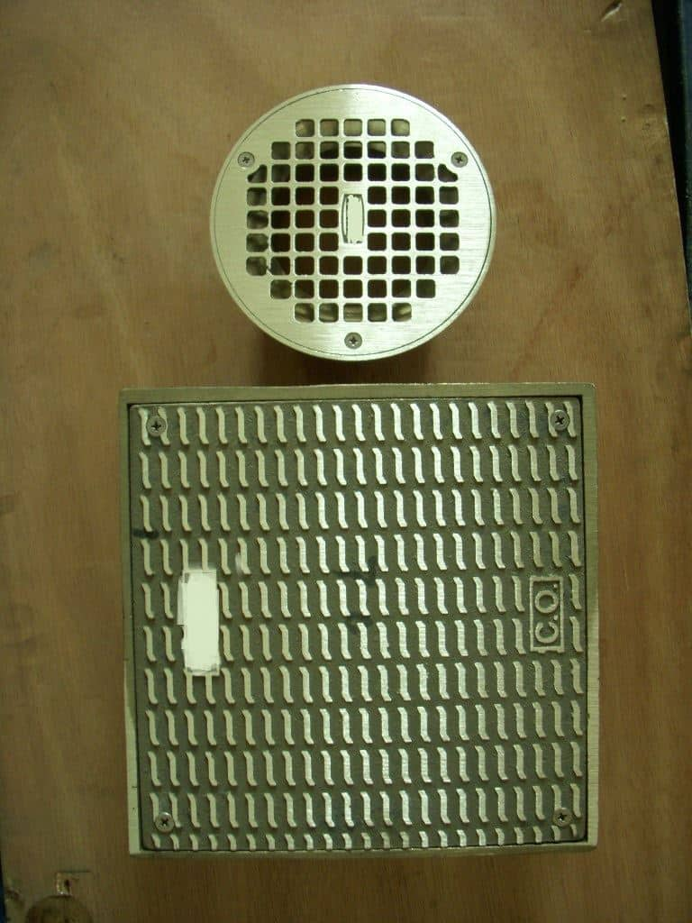 brass floor drain square and round